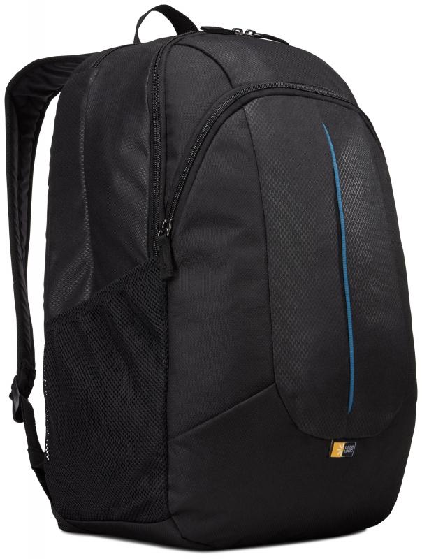 Rucsac laptop 17.3' Case Logic, buzunar frontal, nylon, black 'PREV217BLK/MID'