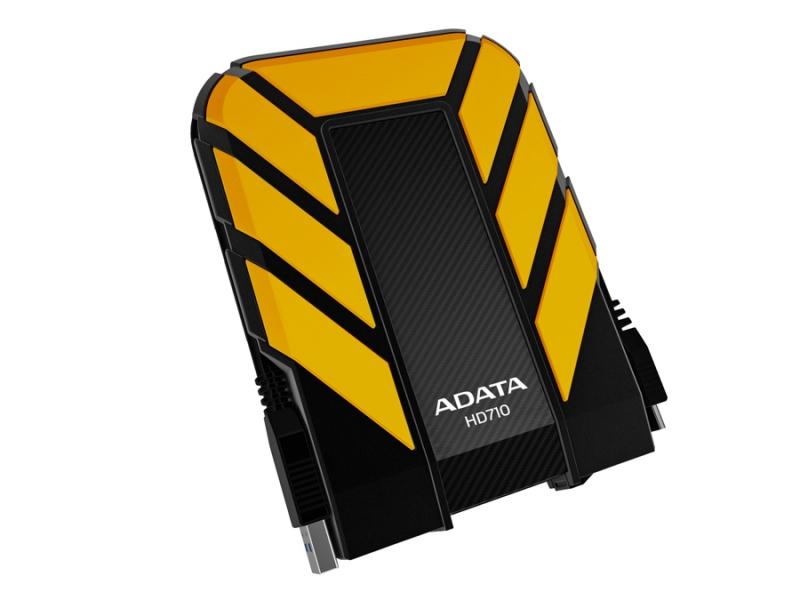 HDD Extern ADATA HD710 1TB, 2.5', USB 3.0, rezistent la apa si socuri, Black/Yellow (AHD710-1TU3-CYL)