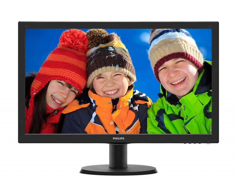 MONITOR PHILIPS 23.6' LED, 1920x1080, 8ms, 250cd/mp, vga+dvi-d (243V5QSBA/00)