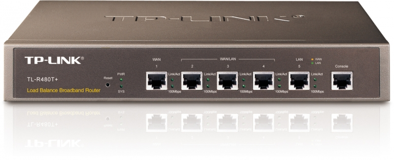 Router 10/100Mbps 1x WAN, 1x LAN, 3x WAN/LAN TP-LINK TL-R480T+ - medium business, rack 13' 1U