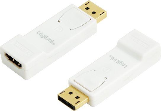 Adaptor extern 1x DisplayPort tata la 1x HDMI mama, Alb, LOGILINK (CV0057)