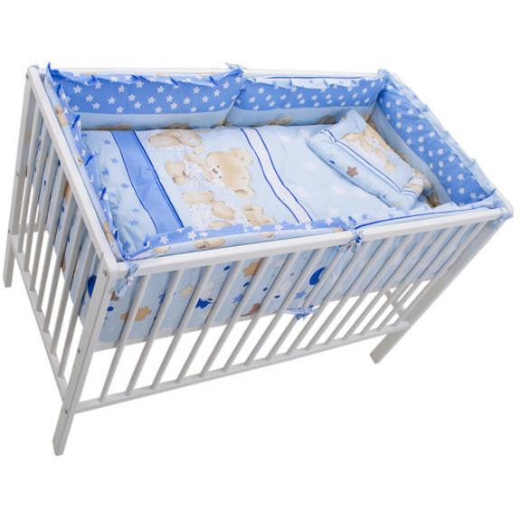 Lenjerie Teddy Hug Blue 4+1 Piese 120 cm x 60 cm