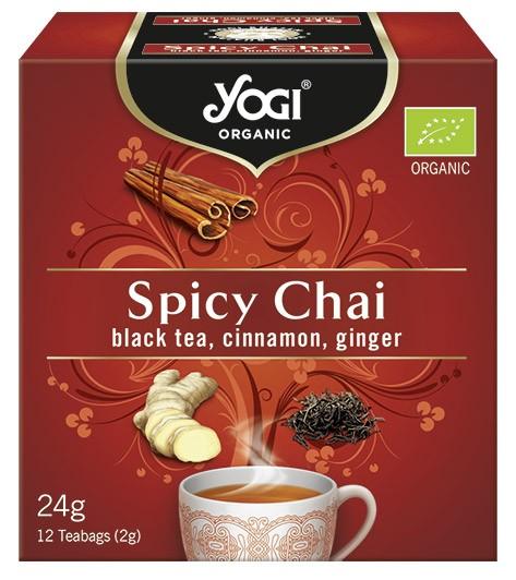 Yogi Tea - Ceai BIO cu mirodenii, ceai negru, scortisoara, ghimbir, 12 plicuri - 24 g