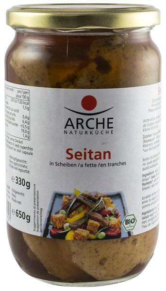 Arche Naturkuche – Seitan BIO felii, 650g/330g