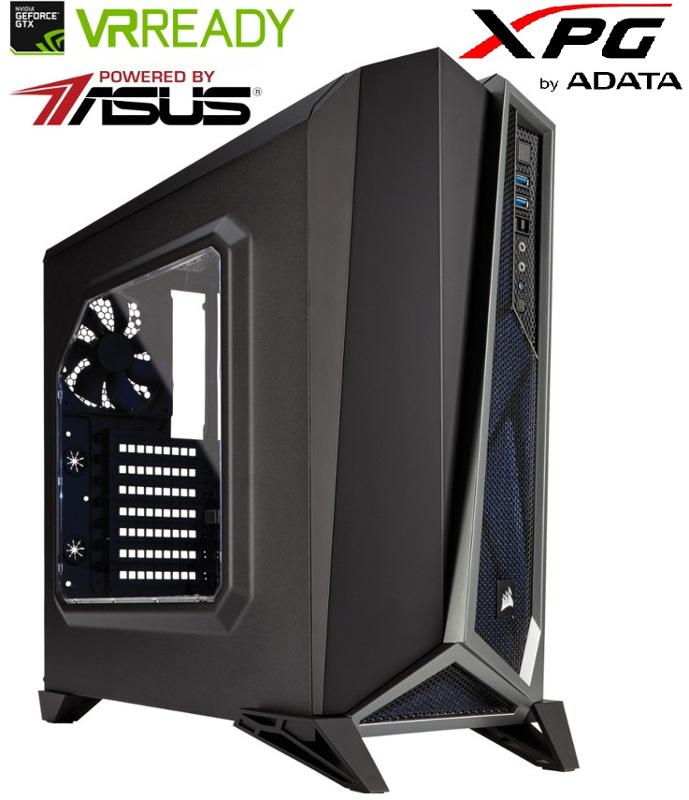 Sistem Gaming Black Aquila v9 Powered by ASUS & ADATA, Intel i7-8700 3.2GHz Coffee Lake, 16GB DDR4, 1TB HDD + 240GB SSD, GTX 1070 Ti 8GB GDDR5, Iluminare RGB