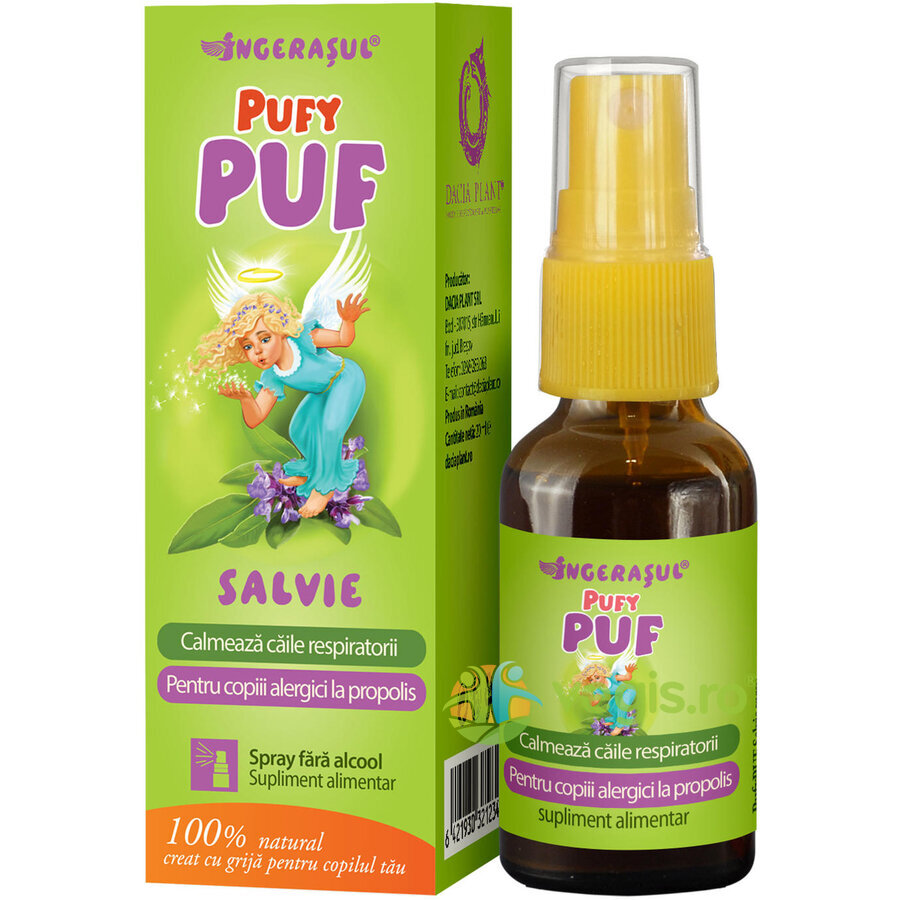 Pufy Puf Ingerasul - Salvie Spray Fara Alcool 20ml