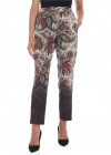 ETRO Trousers In Beige With Contrasting Print