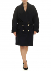 Dark Blue Oversize Coat With Belt