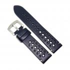 Curea de ceas din piele naturala neagra cu gaurele 20mm 22mm 24mm H RI