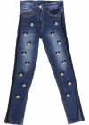 Blue Embroidered Mickey Mouse Jeans