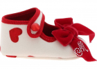 Ballerinas With Hearts Print Bow