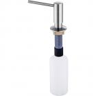 Dozator detergent lichid din inox incastrabil forma cilindrica