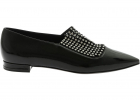 Bellatrix Ballerinas In Black With Rhinestones