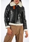 Leather Jacket Crackled Aviator