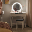 SEA156 Set Masa alba toaleta cosmetica machiaj oglinda masuta vanity s