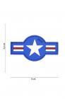 Patch 3D PVC U S Air Force Blue