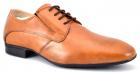 Pantofi Barbatesti Maro deschis Piele Naturala FG Shoes