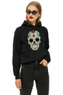 Hanorac dama negru Sugar Skull Colorful
