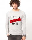 Bluza gri barbati Haters
