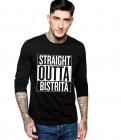 Bluza barbati neagra Straight Outta Bistrita