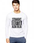 Bluza barbati alba Straight Outta Alba Iulia