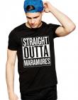 Tricou negru barbati Straight Outta Maramures