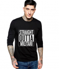 Bluza barbati neagra Straight Outta Militari