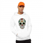 Hanorac Barbati Alb Sugar Skull Colorful