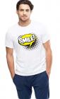 Tricou barbati alb Smile