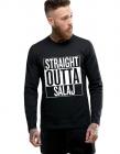 Bluza barbati neagra Straight Outta Salaj