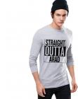 Bluza barbati gri cu text negru Straight Outta Arad