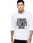 Bluza barbati alba Straight Outta Buzau