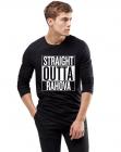 Bluza barbati neagra Straight Outta Rahova