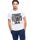Tricou alb barbati Straight Outta Salaj