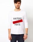 Bluza alba barbati Haters