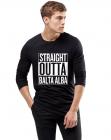 Bluza barbati neagra Straight Outta Balta Alba