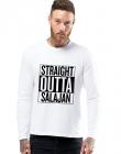 Bluza barbati alba Straight Outta Salajan