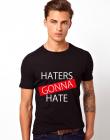 Tricou barbati negru Haters Gonna Hate 1
