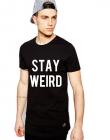 Tricou negru barbati Stay Wired