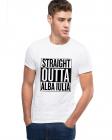 Tricou alb barbati Straight Outta Alba Iulia