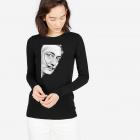 Bluza dama neagra Dali Portret