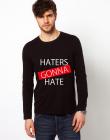 Bluza neagra barbati Haters