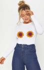 Bluza dama alba Sunflower