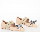 Leather Ballet Flat With Bow