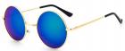 Ochelari de soare Rotunzi Retro John Lennon Albastru Reflexii Auriu