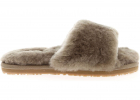 Sheepskin Slippers In Mud Color