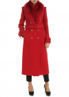 Red Coat With Fox Fur