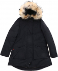 Military Parka Down Jacket In Black