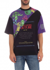 Versace Jeans Couture T Shirt In Black And Purple