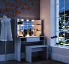SEA269 Set Masa toaleta cosmetica machiaj 100 cm cu oglinda make up cu